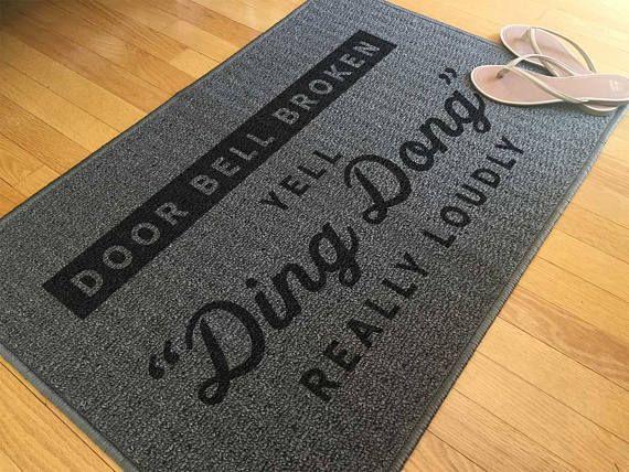 Funny Welcome Mat Funny Front Door Mat Indoor Rug Outdoor Rug Doorstep Mat Welcome Rug Housewarming Gift Grey Rug Grey Mat Carpet Door Mat Front Door Mats Custom Doormat