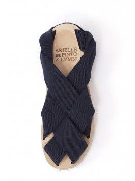 Arielle de Pinto Low Rider Wrap Sandal – Navy - Womens