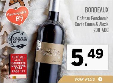 Bordeaux Château Ponchemin Cuvée Emma & Alexia 2011 AOC