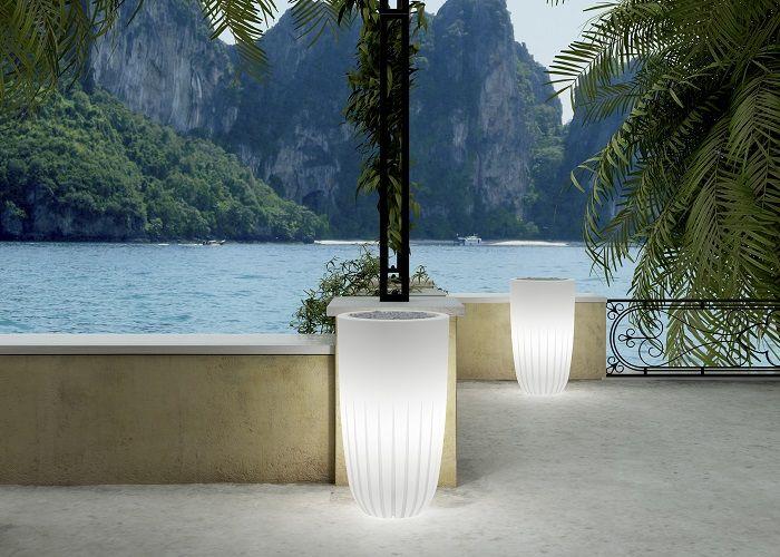 Beleuchteter Blumentopf Valentino Light