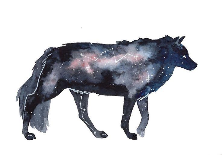 « Galaxy Wolf » par Threeleaves
