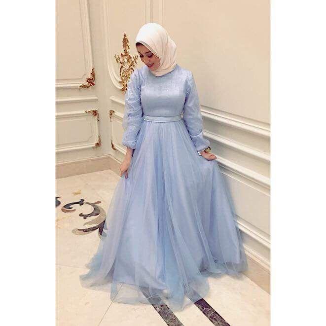 حجابى فستان اطفال أزرق فستان Dress حجابى فستان اطفال أزرق Soiree Dress Dresses Hijab Dress Party