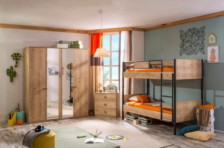 Stockholm stapelbed jongensbed kinder bed kinderkamer jongens hout compleet