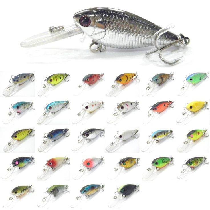 wLure Fishing Lure Hard Bait Deep Diver Tight Wobble Jerkbait Epoxy Coating Black Nickel Treble Hooks 7g 5cm Crankbait  C549 ** Find similar products by clicking the VISIT button
