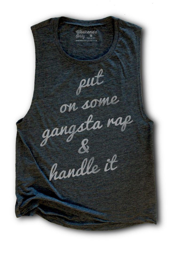 Black keys t shirt etsy - Gangsta Rap Shirt Womens Work Out Tank Flowy Tank Top Hip Hop Shirt