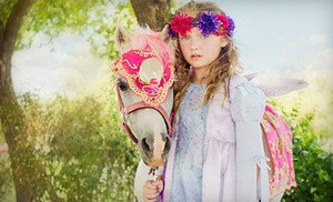 Groupon - Two-Hour Kids' Party with Pony Rides and Petting Zoo at Charming Pony Parties (Up to 51% Off). Three Options Available. in Queen Creek. Groupon deal price: $175.00