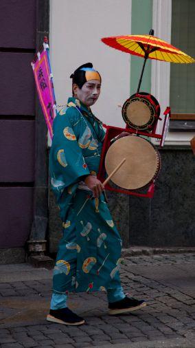 Poznan Poland, artyści Japan Week na ulicach Poznania, październik 2013 [fot.Filip Og]