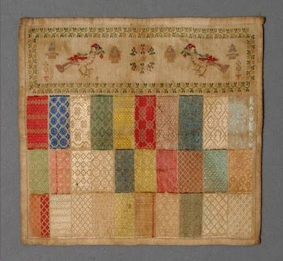 Pattern Darned Sampler:  N e e d l e p r i n t: Moda Museum Antwerp - Sampler Collection On-Line