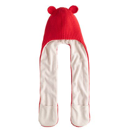 Girls kitten hat with a snuggly winter wrapper - on sale