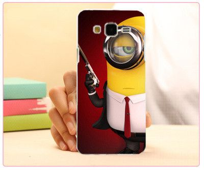 Cartoon TV Despicable Me Yellow Minions Phone Case For Samsung Galaxy J5 Covers 2015 J500F YC955 5.0 Shell Skin Soft TPU Cases