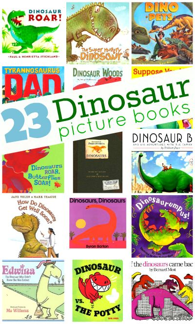 """""""Dinosaurs are always a hit at our house and reading dinosaur picture books with your kids is fun anytime. There are so many great books to choose from and this list is just the tip of the iceberg."""""""