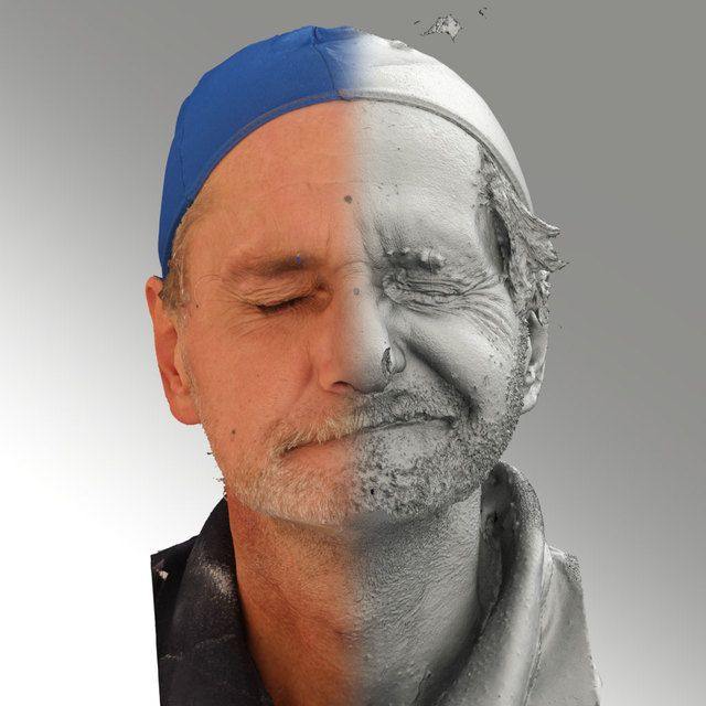 3D Head Scan Of Sneer Emotion Left   Richard High-resolution photogrammetry