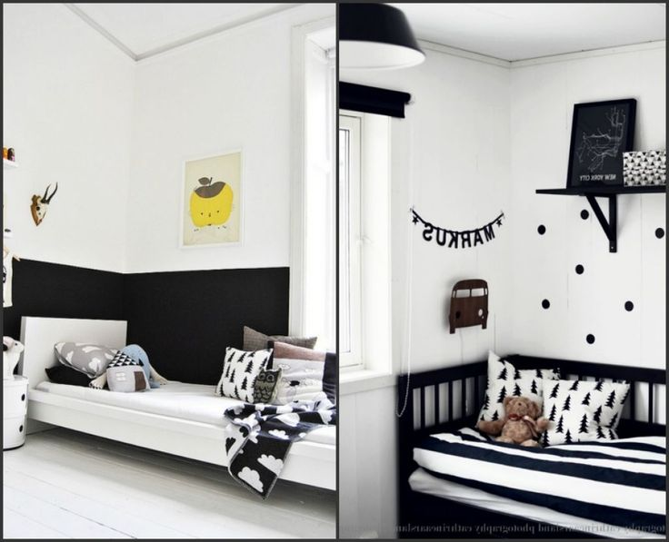 black and white kids rooms kids room pinterest white