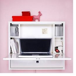 Wall-mounted computer desk
