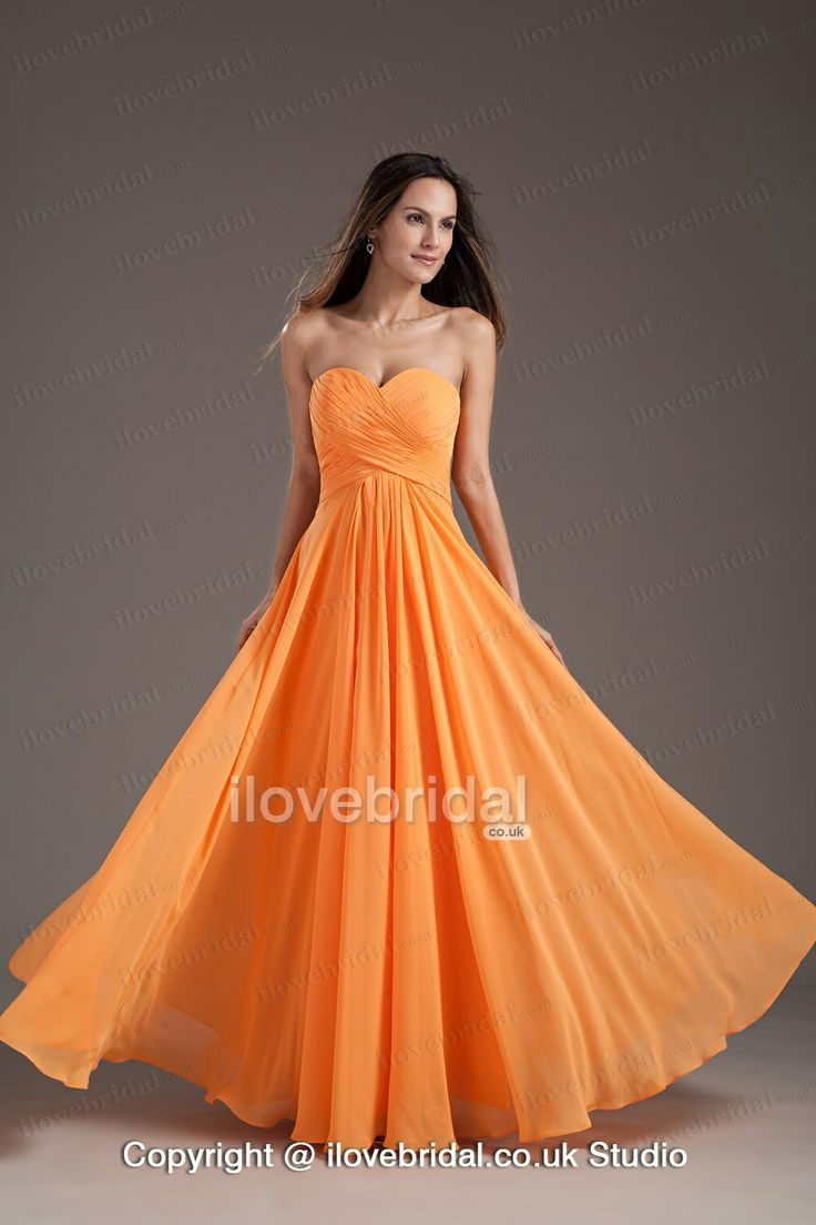 30 best bridesmaid dresses images on pinterest bridesmaids picture of gorgeous orange sweetheart strapless ruffles long summer princess bridesmaid dress ombrellifo Image collections