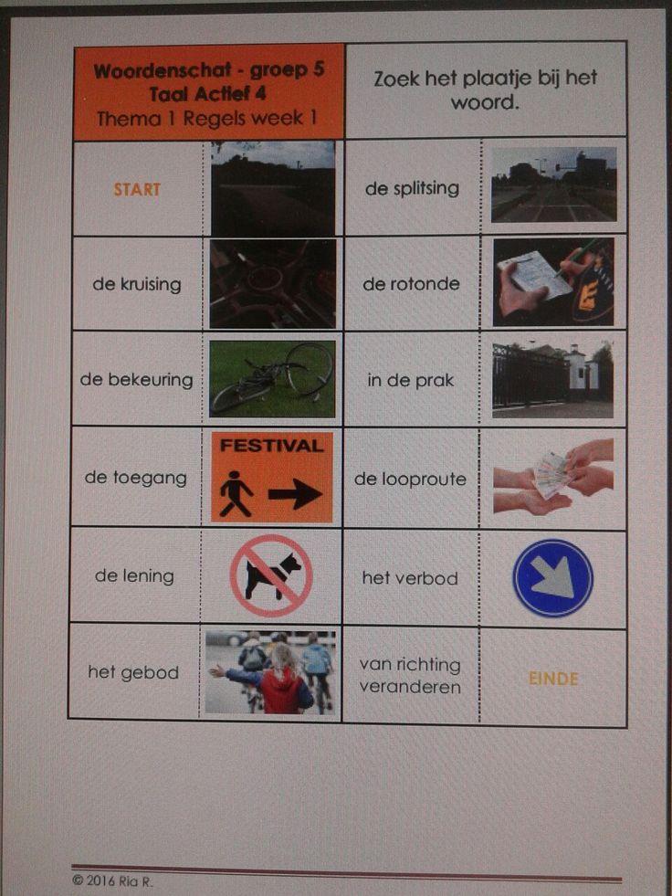 Domino taalactief versie 4, thema 1 groep 5. Te downloaden van digischool, ovv Ria R.