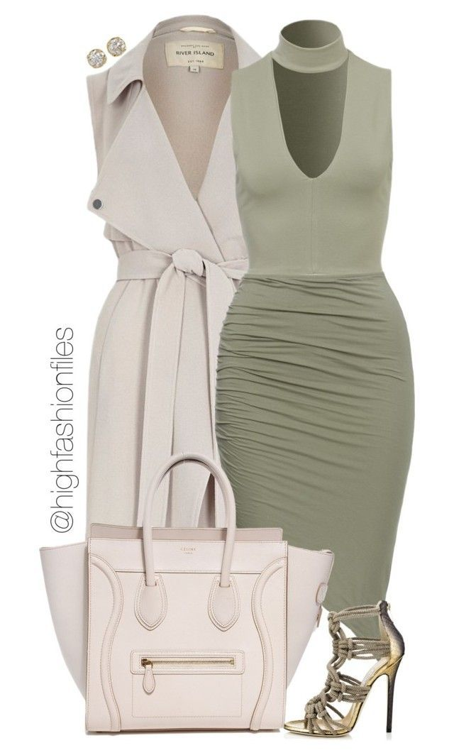 """""""Untitled #2243"""" by highfashionfiles ❤ liked on Polyvore featuring River Island, Jimmy Choo, Hoorsenbuhs, women's clothing, women's fashion, women, female, woman, misses and juniors"""