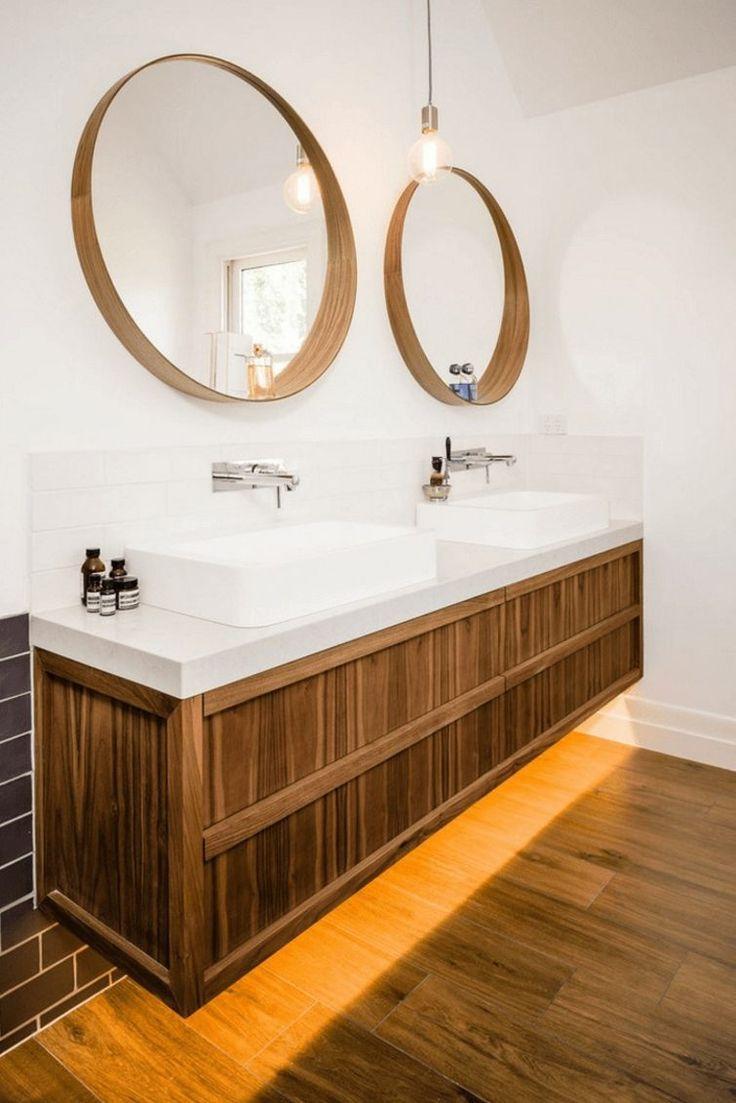 Célèbre Les 25 meilleures idées de la catégorie Miroir rond bois sur  IL73