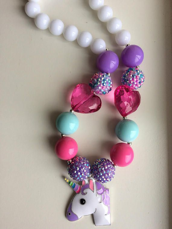 Hey, I found this really awesome Etsy listing at https://www.etsy.com/listing/524135543/unicorn-chunky-bead-necklace-chunky