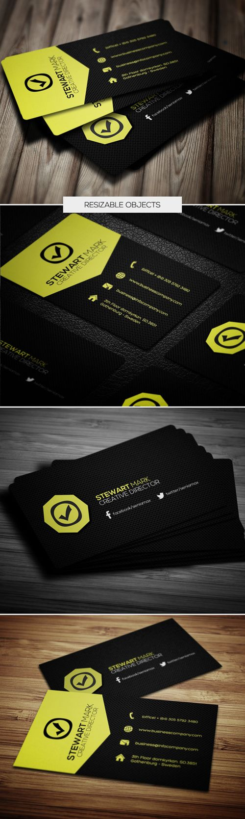 135 best cool business card idea images on pinterest business card buy creative business card 056 by msadesign on graphicriver a great business card template for your business company this card template is perfect for reheart Image collections