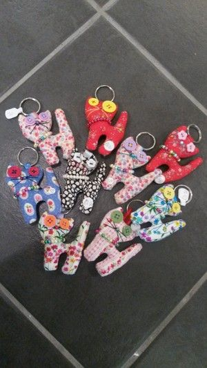 Cat Keyring's by Jo Robinson in store and online www.craftypraxis.co.uk
