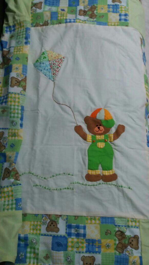 Cobija bebe patchwork