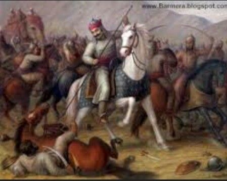 Maharana Pratap fighting a war