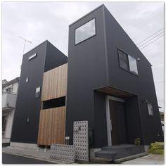 ガルバリウムと木を組み合わせたおしゃれ外壁の家