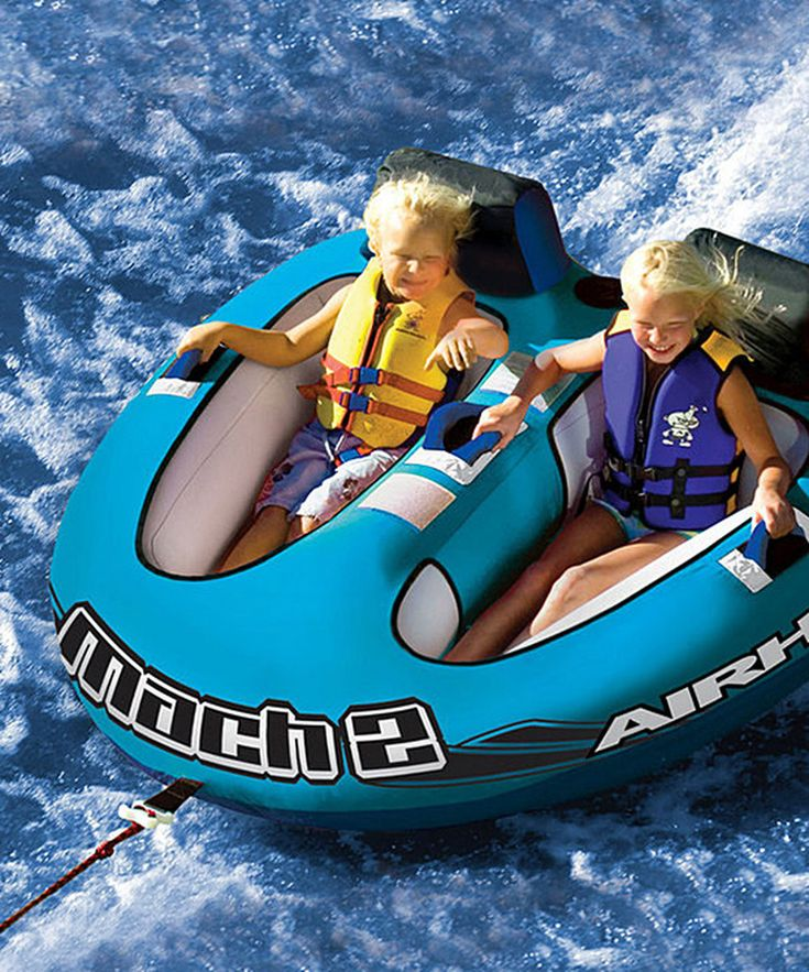 Mach 2 Two-Seat Towable Tube & Rope Set by AIRHEAD #zulily #zulilyfinds  | Klave's Marina has been serving the boating community on Portage Lake in Pinckney, MI for more than 50 Years! Call (734) 426-4532 or visit our website www.klavesmarina.com for more information!