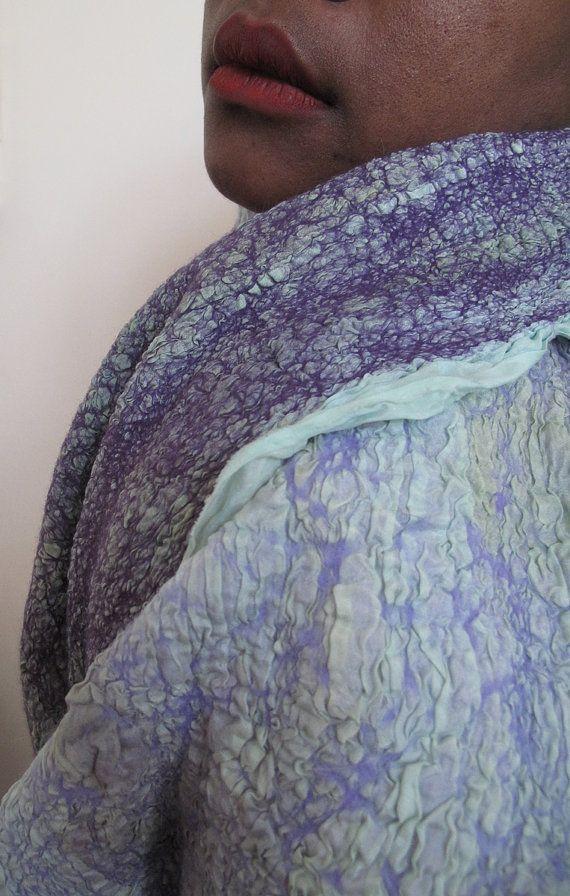 Mauve nuno felt scarf by Brittanysfelt on Etsy