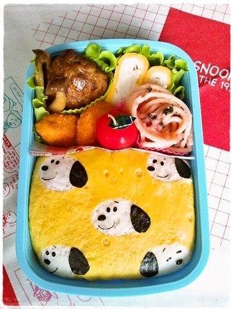 SNOOPY omelet bento ♥ Bento