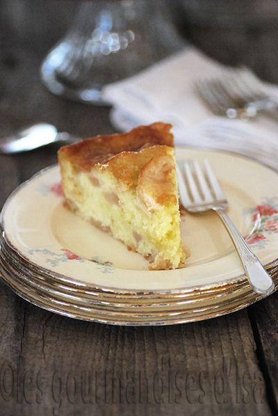 gâteau aux pommes, pommes,