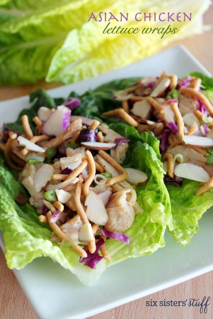 Asian Chicken Lettuce Wraps Recipe!