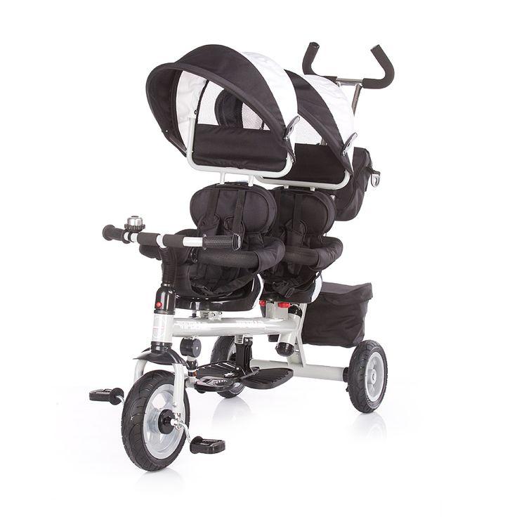 Triciclo para gemelos Chipolino Apollo negro [apollo n] - 149,50€ : La tienda online para tu peke, | tienda bebe pekebuba.com