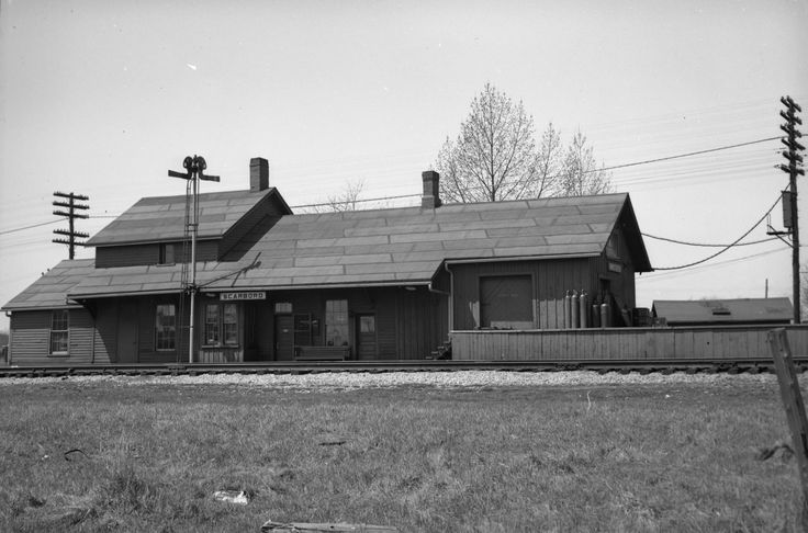 Scarboro Railway Station (C.N.R.), Midland Ave., west side, between St. Clair Ave. E. & Danforth Rd., c1954 Toronto,