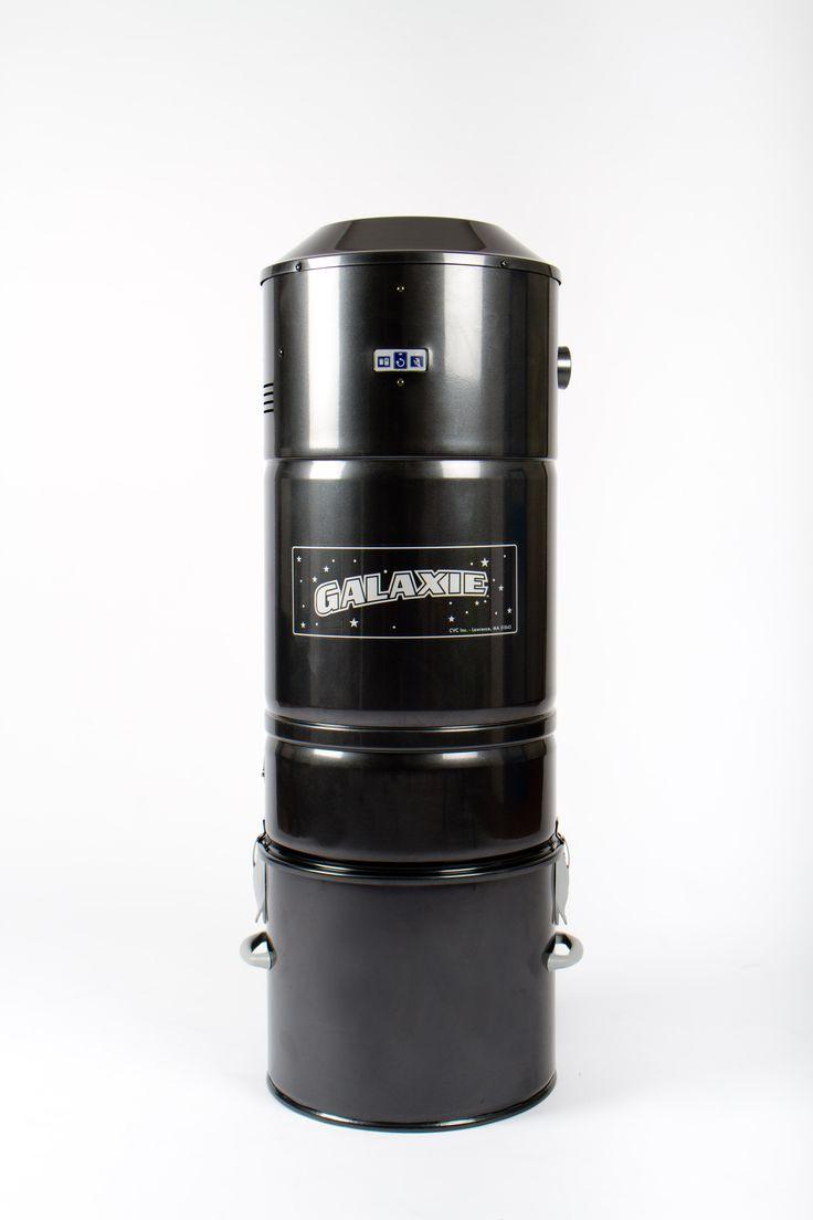 Motorunit GE-90: met of zonder stofzak, 59dB, H99 x dia 28cm, inhoud opvangbak 26l, tot 700m2, trage start en auto stop na 1u continu draaien.