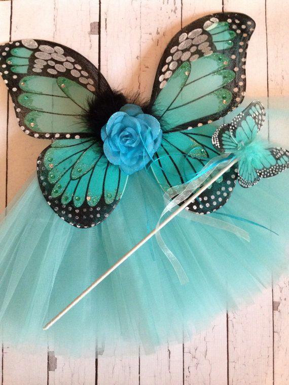 Blue Turquoise Aqua Butterfly Tutu Costume by PoshPixieTutu