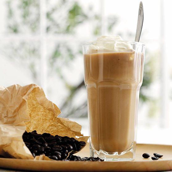 Coffee Banana Shake -http://www.dansukker.dk/dk/opskrifter/coffee-banana-shake-dk.aspx #dansukker #opskrift #shake #banan #banana #kaffe #coffee