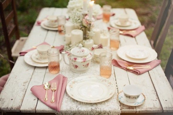old rustic feel but for the modern bride