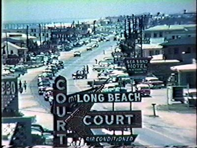 Long Beach Court and Front Beach Rd US98 in the 1950's, Panama City Beach, Florida. by stevesobczuk, via Flickr
