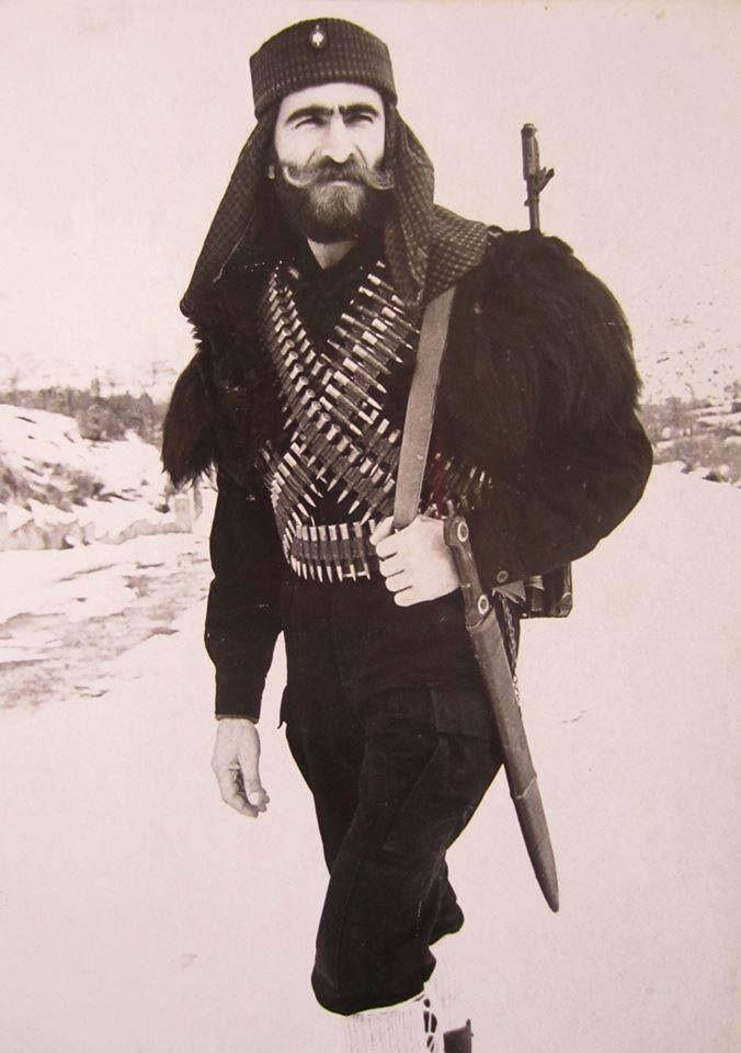 Armenian fighter during the Nagorno-Karabakh War. Nobel warrior defending homeland from invading barbaric Azeri Turks.
