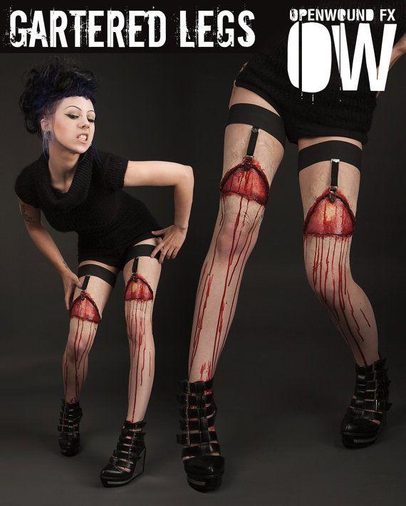Bloody Gartered Legs Prosthetics