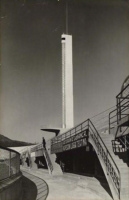 Tower design of Maratona at stadio comunale di Firenze (1929-32) | Architect : Pier Luigi Nervi © l'Archivio Nervi at CSAC