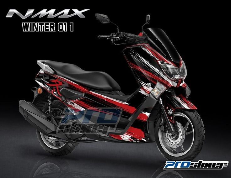 Stiker motor yamaha nmax warna merah desain racing moto2 winter 01 1 prostiker full body