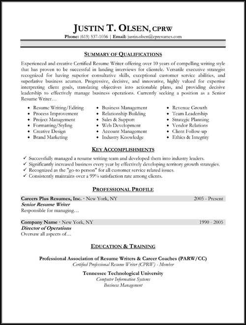 types of resume format samples