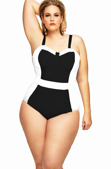 Women's Plus Size Swimwear - Monif C St Vincent Color Block 1 Pc Swim