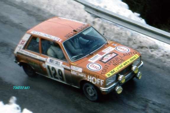 1977 Monte Carlo - Peugeot104ZSB Drevet &S Randi