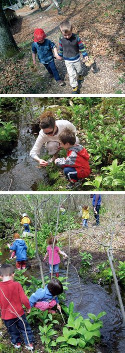 Waldkindergarten (forest kindergarten): An article on a growing trend: a preschool/kindergarten that is entirely outdoors! These children have better motor skills, creativity, and concentration than their traditional-kindergarten peers.
