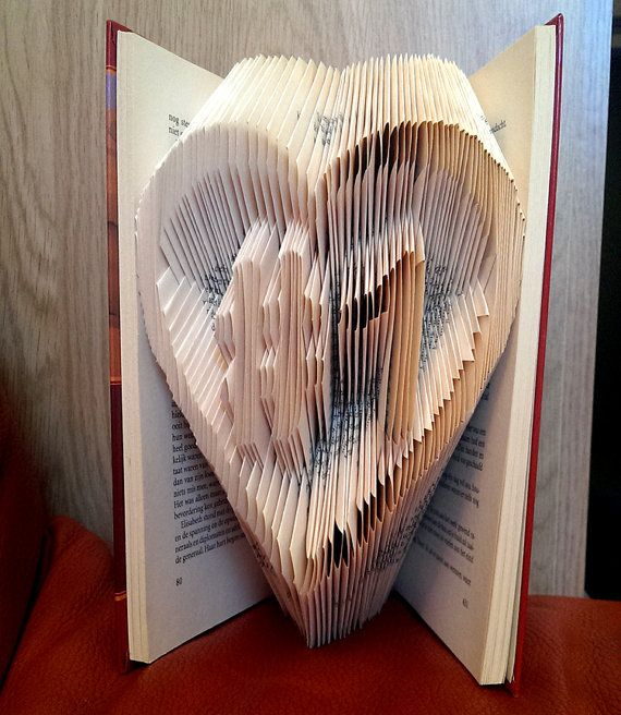 9 best diy gift ideas images on pinterest folded book art book heart with 1 inside folded book art original anniversary gift idea boyfriend negle Image collections