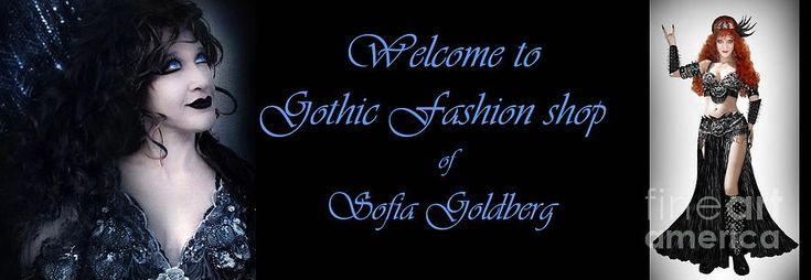 Gothic Fashion Shop Banner Photograph by Sofia Metal Queen